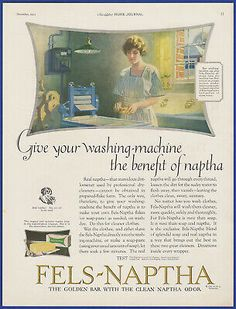 Original 1922 FELS-NAPTHA Laundry Soap Print Ad. This is an ORIGINAL print ad carefully removed from 1922 magazine. Perfect for framing! Clothes Line, Washing Clothes, Fels Naptha, Vintage Laundry, Ebay Ads, Print Ads, Ephemera, Advertising, Conditioner