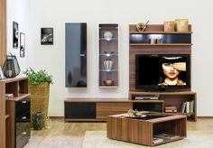 Bling - modern nappali dijoni dió - fényes fekete színben. Flat Screen, Wall, Furniture, Tv, Home Decor, Blood Plasma, Decoration Home, Room Decor, Television Set