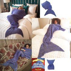 Zachte zeemeermin staart deken grootte groot Cocoon door UraMermaid