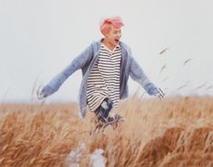 If you were having a bad day here's a happy little jimin running through a field.go on now.smile.