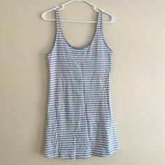 sun dress/ beach dress blue and white striped, low cut back, summer/beach dress Forever 21 Dresses Mini