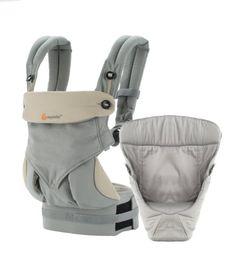 Ergobaby 4 Position 360 Bundle Of Joy with Easy Snug Infant Insert, Grey