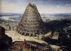 Lucas Van Valckenborch. Tower of Babel by Lucas van Valckenborch in 1594