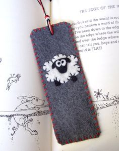 Moonbeam's Muchness Etsy Shop Felt Sheep Bookmark
