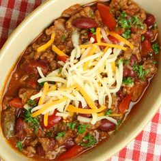 A Hearty and flavorful recipe for beef chili with cheese. Great served with buns.. Beef Chili With Cheese Recipe from Grandmothers Kitchen.