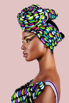 Attaché de foulard Duku Crowns by Printex Ghana « Timodelle