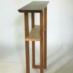 Narrow Entry Table tall entry table- narrow hall table, artistic side table, accent