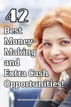 Are you looking for ways to make money from home or just a side hustle? Whether it's a work at home job, a home business, a side hustle, or just an extra cash opportunity, these are the 42 best money-making and extra cash opportunities around! You can wor Earn Money From Home, Earn Money Online, Online Jobs, Way To Make Money, How To Make, Online Cash, Money Fast, Extra Cash, Extra Money
