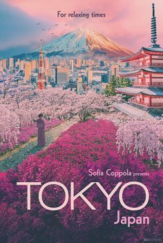 A poster for Tokyo, Japan as if it were designed by filmmaker Sofia Coppola, who is the director of films like The Virgin Suicides and Lost in Translation. Image by The Big Domain. A lovely marketing asset that is also meaningful! #F8C