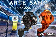 Arte Sano Tattoo Supplies os trae las máquinas rotativas ArtDriver Tattoo Machines. Científicamente diseñadas por ingenieros y tatuadores, con un chasis hergonómico, muy equilibrado y resistente a golpes. Los mejores motores maxon de 5w posible en una máquina de tatuaje, con una sola máquina realizarás lineas, color y sombras con muchisima facilidad.
