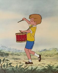 "Animation Collection: Original Production Cel of Christopher Robin from ""Winnie the Pooh And The Honey Tree,"" 1966"