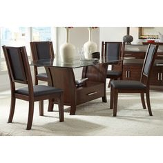 Progressive Furniture P884-10B-10F-10T Avalon Dining Complete Table
