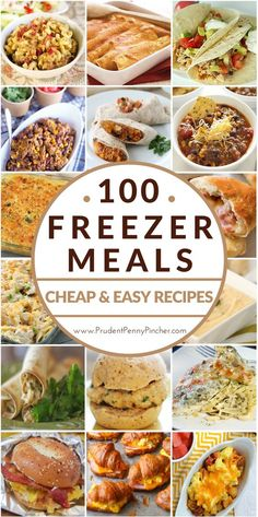 100 Cheap & Easy Freezer Meals, just think of all the nights without major cooking projects to get to dinner. Slow Cooker Freezer Meals, Make Ahead Freezer Meals, Dump Meals, Freezer Cooking, Frugal Meals, Cooking Recipes, Healthy Recipes, Freezer Recipes, Easy Recipes