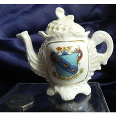 Gemma Crested China Pearlware Teapot - Cleethorpes Crest