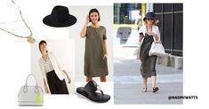 Who has been spotted on the streets of Manhattan with a modern, casual yet super stylish look? Yes, none other than the beautiful Naomi Watts! Urban Looks, Oversized Dress, Naomi Watts, Celebrity Look, Street Style Looks, Summer Trends, Black Flats, Blazers For Women, Summer Looks