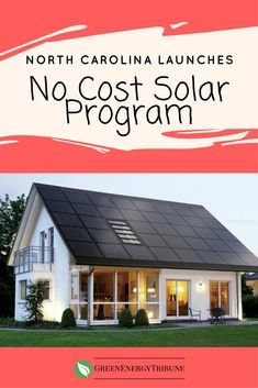North Carolina is one of the best states in the country if you want to go solar. The cost for the installation to the middle class families: nothing. The homeowner gets solar panels on their roof and a new reduced electric rate.
