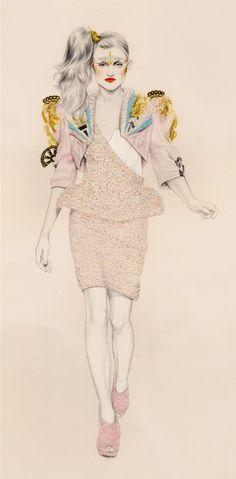 Natalia Sanabria Fashion Illustrations-pin it by carden