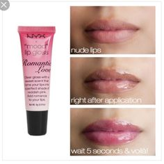 "💄 3 for $13💄NYX mood lip gloss in romantic love Brand new NYX ""mood "" lip gloss in romantic love. Will do 3 for $13 on most NYX products Sephora Makeup Lip Balm & Gloss"