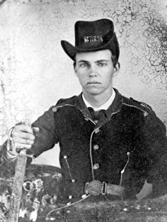 """William D. Rogers.  Enlisted May 1861, 1st Florida Infantry Regiment. Transferred in 1864 to 15th Cavalry (SMR on hat stands for """"Simpson Mounted Rangers"""" which was company E of the 15th Confederate Cavalry). Captured with brother John Franklin Rogers at Pine Barren, Florida by 1st Marine Cavalry and sent to Ship Island where he said they received kindly treatment. Died of dysentery on March 28, 1865."""