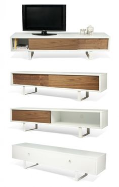 Plywood Furniture, Plywood Cabinets, Mcm Furniture, Vintage Furniture, Furniture Design, Living Room Tv, Apartment Living, Rack Tv, Interior Architecture