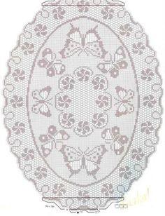 Butterflies filet crochet chart - would make a cute mirror frame