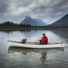 Happy Canada Day from Banff! Thanks to RCMP Retired S/Sgt, Pat Kamenka, for this Canadian moment at Vermilion Lakes. Canada Day Pictures, Happy Canada Day, Canada Eh, Canoe And Kayak, Kayaking, Canoeing, The Great Outdoors, Tourism, Nature Photography