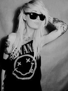 #grunge #nirvana #fashion #tattoo #ink #beauty #photography