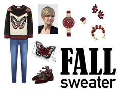 """""""Fall Sweater"""" by tanz-mim on Polyvore featuring Brakeburn, Gucci, Stuart Weitzman, Kate Spade, Trina Turk and Anne Klein"""