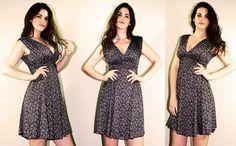 Φόρεμα εμπριμέ (κωδ. Κ16602) Dress code (K16602)