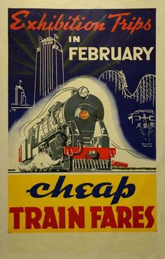 NZR, New Zealand Railways poster - Exhibition Trips in February Cheap Train Fares 1940 Train Posters, Railway Posters, Jamaica Vacation, Jamaica Travel, History Online, New Zealand Travel, Military Art, Tourism, Retro