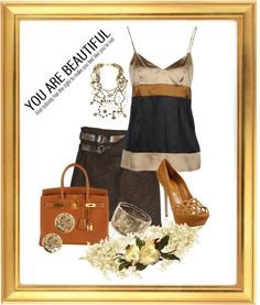 """Browns"" by diane-shelton ❤ liked on Polyvore"