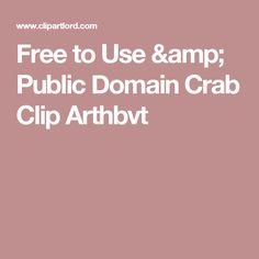 Free to Use & Public Domain Crab Clip Arthbvt