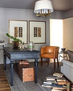 59 trendy home office decor neutral Home Office Space, Home Office Design, Home Office Decor, Office Furniture, House Design, Home Decor, Office Ideas, Vintage Office Decor, Modern Office Decor