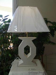 Cartonnage Pied de lampe - COPYRIGHT ©