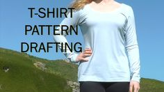 Pattern Drafting Tutorial /Basic T shirt / Sewing Project Stretch Fabric