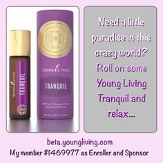 """Instant relaxation! The most """"tranquil"""" aroma! Get yours today.. I can help.. #tranquil #aromatherapy #relaxation #stress #chaos #relax #breathe #youngliving #essentialoils #natural #health #wellness #lavenderladies #triharmonyoilers #lavender #tranquil"""