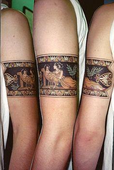 Greek armband by Sheri, Blackbird Tattoo & Gallery. Nashville, TN. - very cool idea