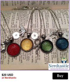 Geek Chic Harry Potter House glitter pendants