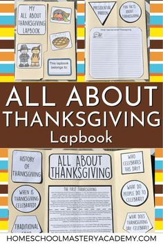 Learn all about Thanksgiving with this hands-on lapbook for early learners and elementary students. Perfect for all of your Thanksgiving studies! #thanksgivingforkids #thanksgiving #homeschool #lapbook
