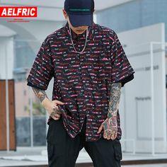 AELFRIC Carro Impressão Camisa Fina Slim Fit Camisa de Manga Curta Homens  2018 Marca de Moda Coreano Homem Mulheres Casuais Camisas havaianas c5dc336dd6144