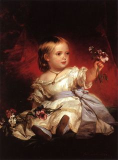 Victoria, Princess Royal of England, about 1842-43 who would become Queen Victoria -Victorian - Past A La Mode