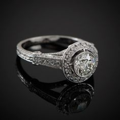 1.08ct Old European Diamond Engagement di EstateDiamondJewelry