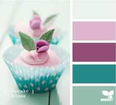 cupcake blues. perfect colour palette for spring time