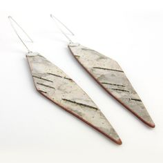 Eco friendly birch bark earrings Tine by bettula on Etsy Birch Wedding, Birch Bark, Natural Brown, Autumn Trees, Handmade Sterling Silver, Eco Friendly, Earrings, Stuff To Buy, Etsy
