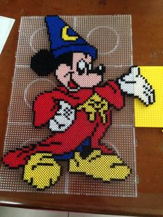 Mickey Mouse - Fantasia film perler beads by Kerry Lee