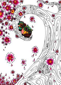 The Cherry Blossom Tree 8x10 Print by WhimsicalArtStudio on Etsy, $18.00