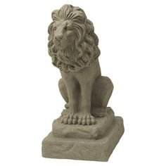 The Guardian Lion Statue is made of resin and plastic material, but has a rich and textured stone appearance that makes it look realistic and concrete. In addition to durability, the statue is lightweight and can be effortlessly installed in seconds. Outdoor Statues, Garden Statues, Garden Sculptures, Sand Sculptures, Indoor Outdoor, Outdoor Living, Outdoor Decor, Outdoor Ideas, Backyard Ideas