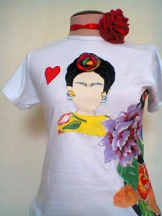 Camiseta customizada  Frida!!!!