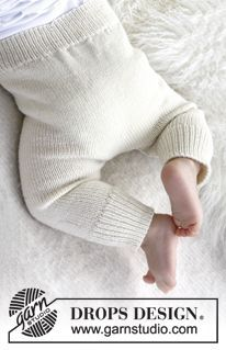 """Knitted DROPS pants in """"Baby Merino"""". ~ DROPS Design free pattern"""