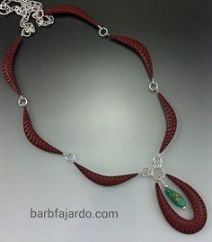 Barb Fajardo, Hand Textured Swag Necklace